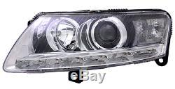 Optique Avant Gauche + Moteur D3s Audi A6 Avant C6 4f 2.8 Fsi 10/2008-03/2011