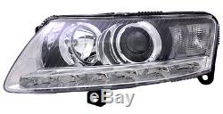 Optique Avant Gauche + Moteur Hid Audi A6 Avant C6 4f 2.8 Fsi Quattro 10/2008-03