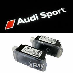 Original Audi Sport LED Éclairage D'em Marchement Logo Projecteur pour Beaucoup