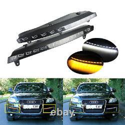 Paire Blanc Xenon Ampoules feux Diurnes + Orange Clignotant kit Pour Audi Q7 4L