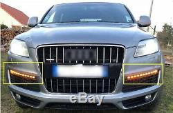 Paire Clignotant Avant Latéral Feux de Jour Position DRL Pour Audi Q7 2007-2009
