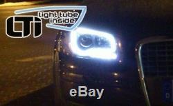 Paire de Phares Avant LED DRL à l'intérieur LTI Light Tuyau AUDI A3 8P 08-12