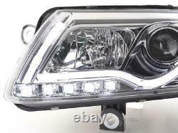 Paire de feux phares Daylight DRL Led Audi A6 C6/4F 2004-2008 Chrome