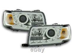 Paire de feux phares Daylight Led Audi 80 B4 1991-1994 Chrome