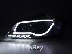 Paire de feux phares avant Audi A3 8P/8PA de 2008 a 2012 Daylight Led Noir