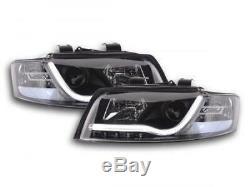 Paire de feux phares avant Audi A4 8E de 2001 a 2004 Daylight Led noir