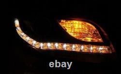 Paire de feux phares avant Audi A4 B7 de 2004 a 2008 Daylight cligno led noir