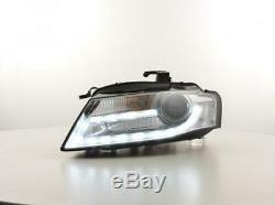 Paire de feux phares avant Audi A4 B8 de 2007 a 2011 XENON Daylight Led chrome