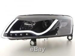 Paire de feux phares avant Audi A6 4F de 2004 a 2008 Daylight LED Noir