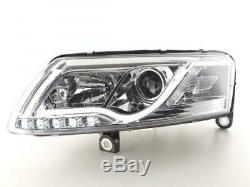 Paire de feux phares avant Audi A6 4F de 2004 a 2008 XENON Daylight Led Chrome