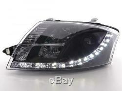 Paire de feux phares avant Audi TT 8N de 1999 a 2006 Daylight Led Noir