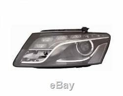 Phare Avant Xenon Gauche Audi Q5 2008-2012 À Led Avec Parabole Noire