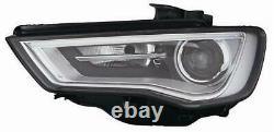 Phare Avant Xénon LED Pour Audi A3 2012-2016 Gauche Parabole Noir