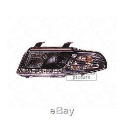Phare avant Set Blocs de Phares avant de Voiture avec Led pour Audi A4 B5 Noir