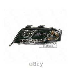 Phare avant Set LED Éclairage Diurne Optique pour Audi A6 C5 Noir