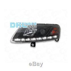 Phare avant Set LED Lumière de Circulation Diurne pour Audi A6 4f Noir 04-08 R87
