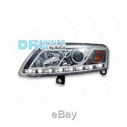 Phare avant Set LED Lumière de Circulation Diurne pour Audi A6 4f Xenon Chrome