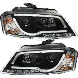 Phare avant Set Tube Lumières LED Véritable Feux R87 pour Audi A3 Année 08-12