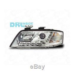 Phare avant Set avec LED Feux de Jour pour Audi A6 C5 Fl Année 01-04 R87 Bj. 01