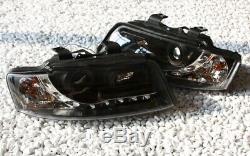 Phare avant Set pour Audi A4 8E 00-06 Limousine avant + LED Feux Cff Noir