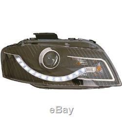 Phare avant Set pour Audi A4 8E 04-08 Soude / LED Dragon Lumières Clair/ Noir