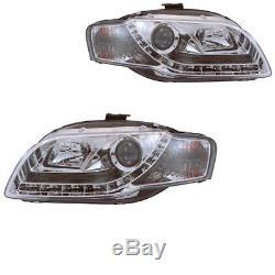 Phare avant Set pour Audi A4 8E 04-08 Soude / Led Dragon Lumières Transparent /