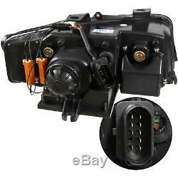 Phare avant Set pour Audi A4 8E B6 Année Fab. 00-04 LED Feux Optique Clair Noir