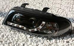 Phare avant Set pour Audi A4 B5 en LED Feux Cff Optique Noir Noir Neuf