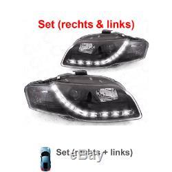 Phares Audi A4 8e Soude / avant LED Dragon Lumières Transparent/Noir 1003730