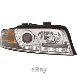 Phares Audi A4 B6 8e Soude / avant LED Dragon Lumières Transparent/Chrome
