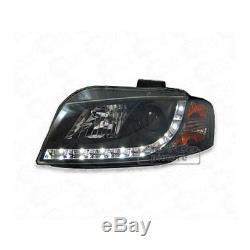 Phares Blocs de Phares avant de Voiture avec LED Audi A3 8p Noir 1039944
