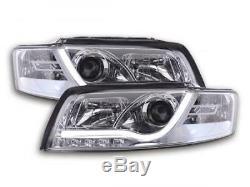 Phares Daylight A LED avec barre lumineuse et look feux de jour Audi A4 B6 8E