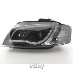 Phares Daylight à LED avec barre lumineuse et look feux de jour Audi A3 8P/8PA a