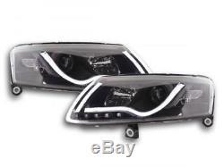 Phares Daylight a LED avec barre lumineuse et look feux de jour Audi A6 4F an
