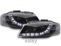 Phares Daylight a LED avec look feux de jour Audi A3 8P-8PA an. 03-07 noirFKSF