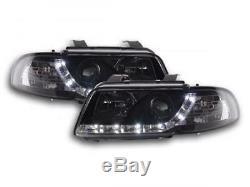 Phares Daylight a LED avec look feux de jour Audi A4 B5 8D an, 95-99 noi