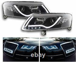 Phares H7 LED Lightbar Noir Feux de Jour pour Audi A6 4F C6 Lumière Du Jour