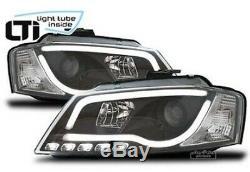 Phares avant pour Audi A3 8P (2008-2012) Paire Feux Lumières Light Tuyau Inside