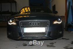 Phares avants Pour Audi A4 B8 8K 2008-2011 Feux Diurnes Noirs LED