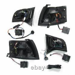 Pour Audi A4 8E B7 Avant Original Jom Plein LED Feux Arrières Noir Fumee Kit