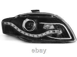 Pour Audi A4 B7 04-08 RS4 Regardez Calandre Nid D'Abeille + Phares LED Grille