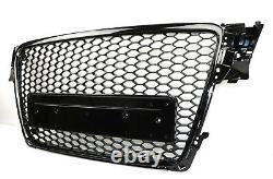 Pour Audi A4 B8 08-12 RS4 Lok Calandre Nid D'Abeille Pare-Chocs LED Feux Phares