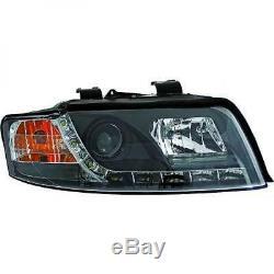 Pour Audi A4 Saloon 00-04 Conduite à gauche Projecteur Led DRL Phare avant