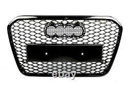 Pour Audi A6 4G 11-14 RS6 Look Calandre Nid D'Abeille + Voir + LED Feux Grille