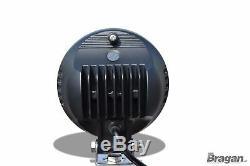 Pour Audi Q7 4x4 Plaque Immatriculation avant Barre + Rond Led Spots X 2