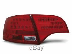 Rouge Blanc LED Feux Arrière pour Audi A4 B7 04-08 Avant