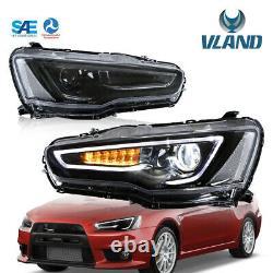 VLAND LED Phares 2008-2017pour Mitsubishi Lancer EVO X Audi style avec Dynamique